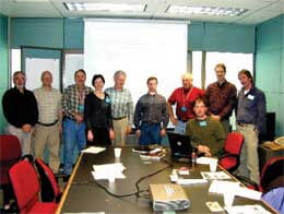 Participants at the 5-year Alouette Reservoir Fertilization Program meeting April 11, 2003