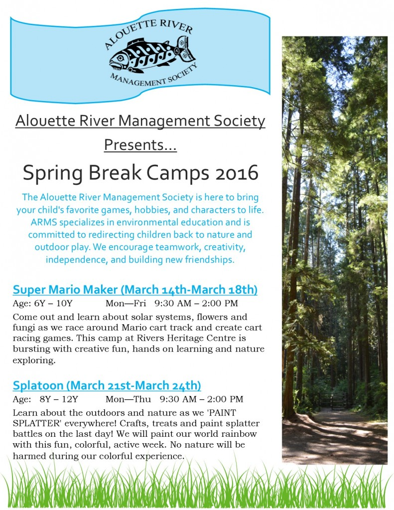 ARMS Spring Break Camp Flyers