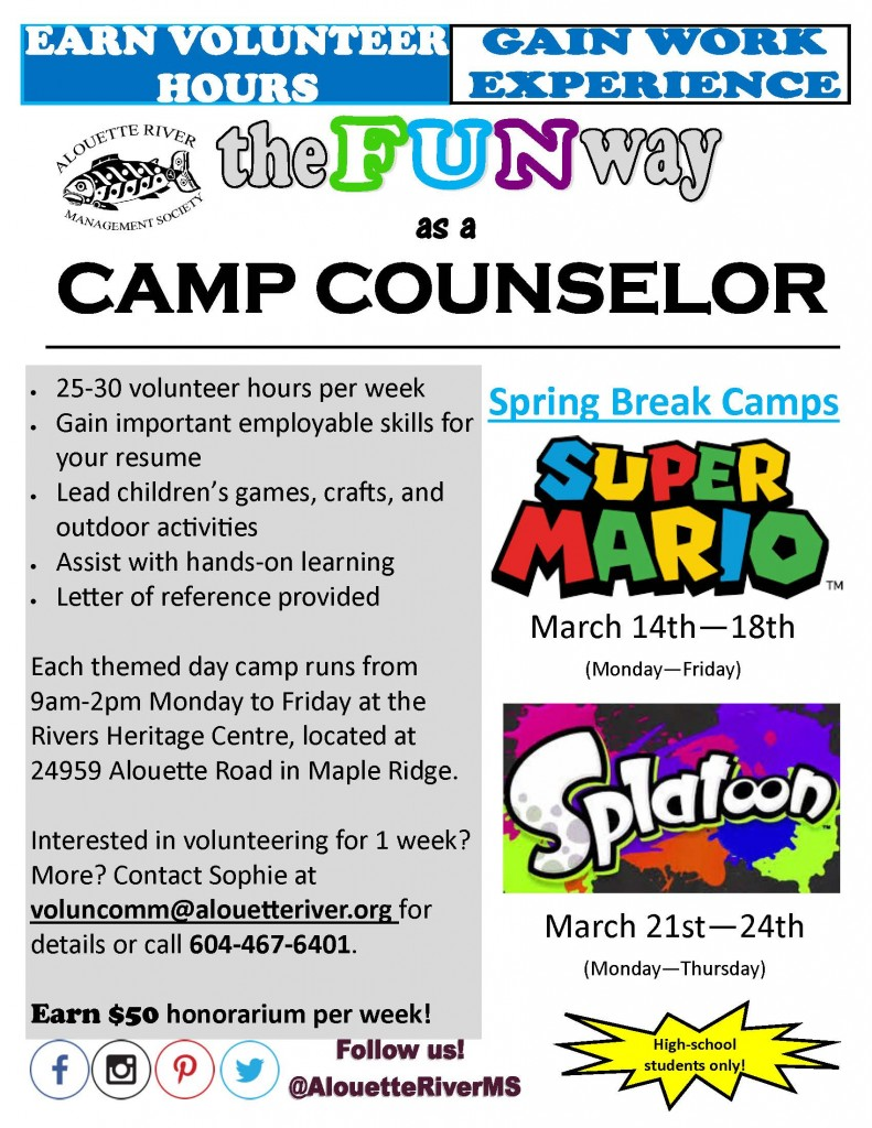 ARMS Spring Break Counselor Flyer 2016
