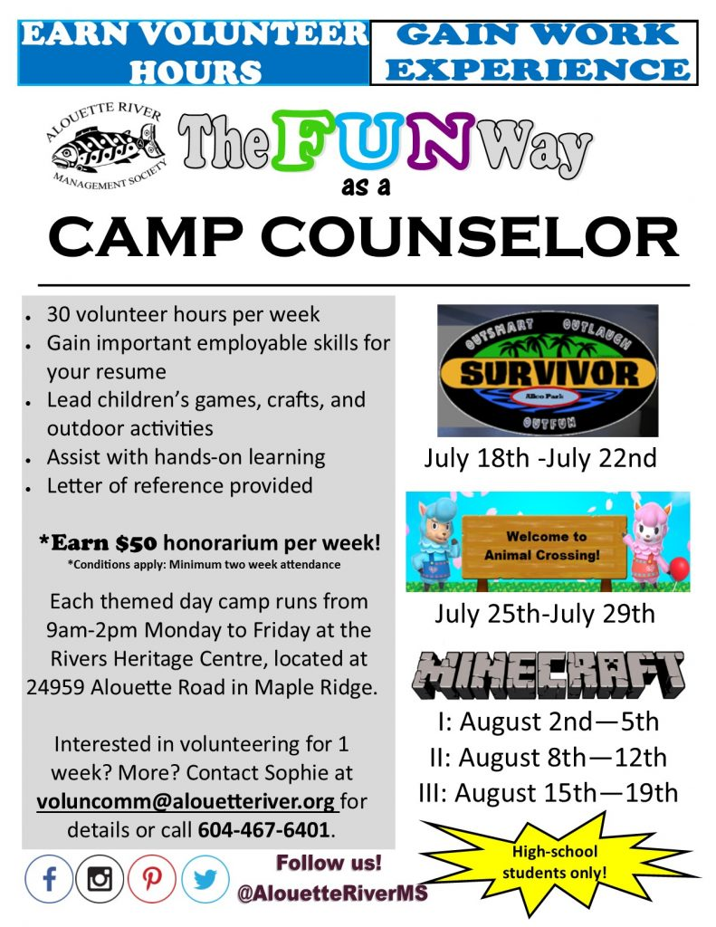 ARMS Summer Camp Counselor Flyer 16